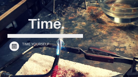 Time yourself when creating