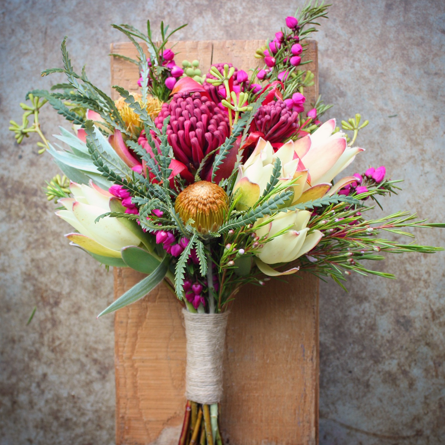 Swallows nest farm waratah wedding bouquets for Bouquet of flowers for weddings