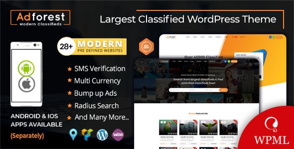 AdForest v4.2 - Classified Ads WordPress Theme