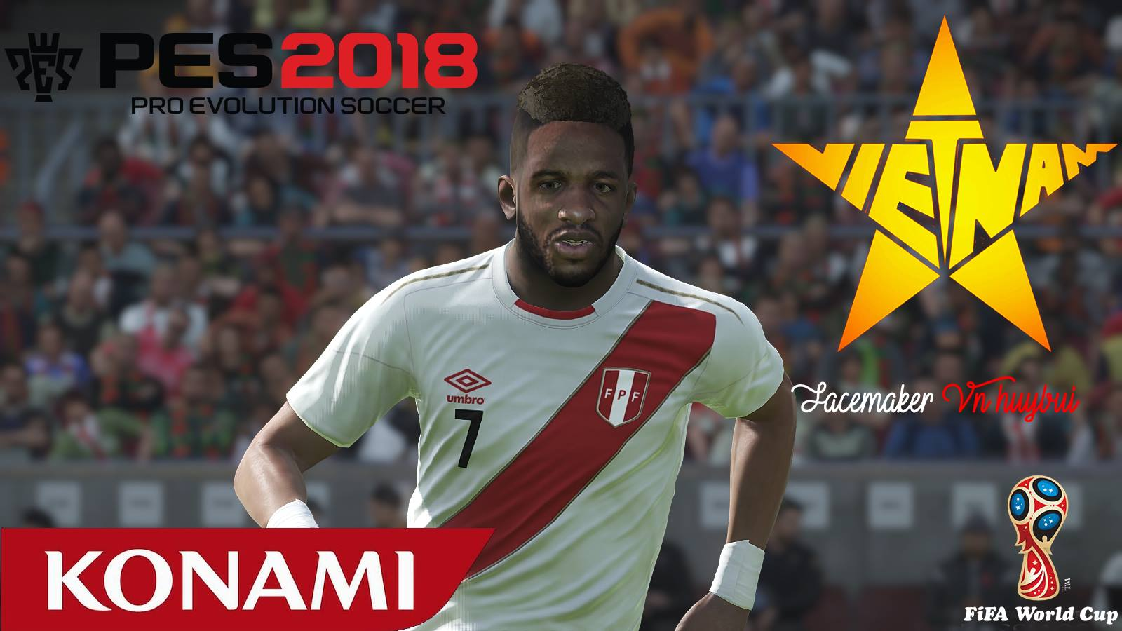 PES 2018 Jefferson Farfán face by Facemaker VN HUY BUI
