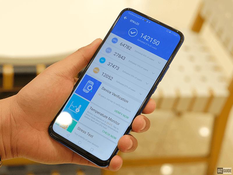 AnTuTu speed score of Y9 Prime 2019