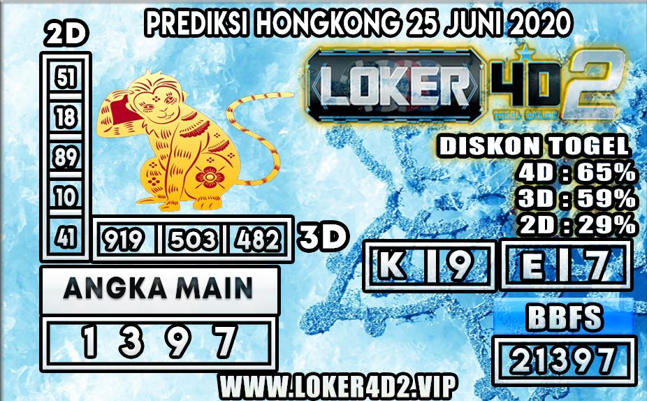 PREDIKSI TOGEL HONGKONG LOKER4D2 25 JUNI 2020