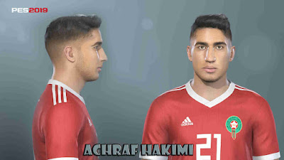 PES 2019 Faces Achraf Hakimi By Prince Hamiz