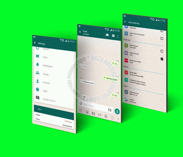 BBM Mod Whatsapp Style Theme v3.3.0.16 Apk