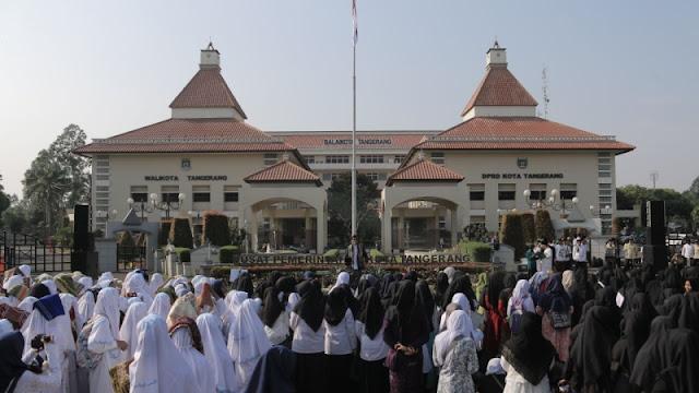 Subhanallah! Ribuan Santri di Tangerang Istigasah Doakan Kepemimpinan Jokowi Lebih Baik