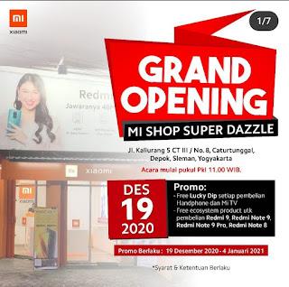 Banyak promo di grand opening Mi Shop Jogja