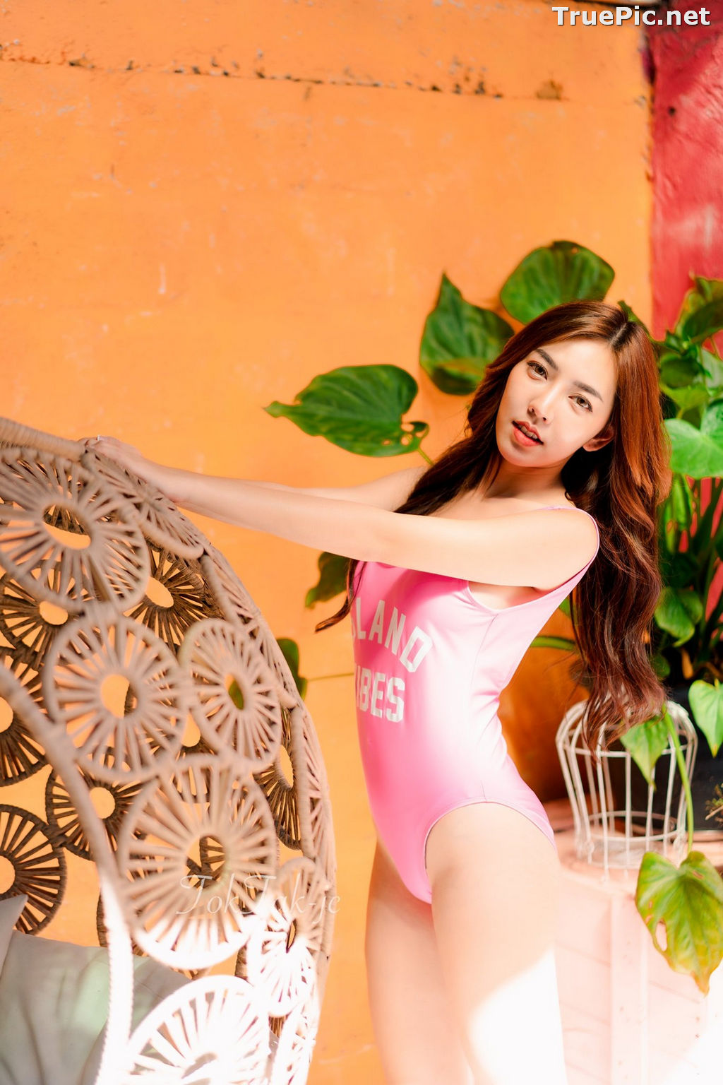 Image Thailand Model - Champ Phawida - Let's Swim With Pink Monokini - TruePic.net - Picture-7