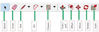 اشرطة الادوات في برنامج Google Sketch Up عالم المعرفة