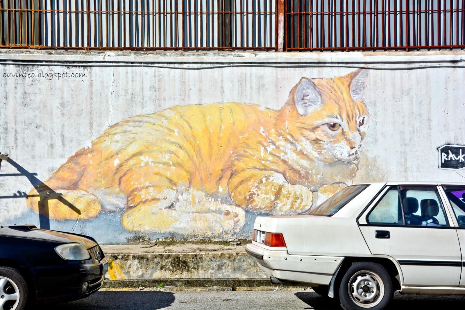 Entree kibbles along lebuh armenian towards chew jetty for Mural 1 malaysia negaraku