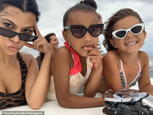 Kourtney Kardashian shares sweet snap with niece North and daughter Penelope as they rock sunglasses