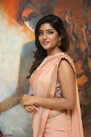 Eesha Rebba in beautiful peach saree at Darshakudu pre release ~  Exclusive Celebrities Galleries 033.JPG