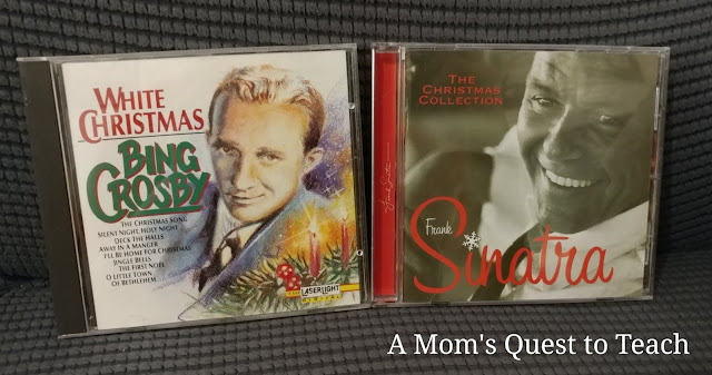 CDs - White Christmas by Bing Crosby and Christmas special by Frank Sinatra