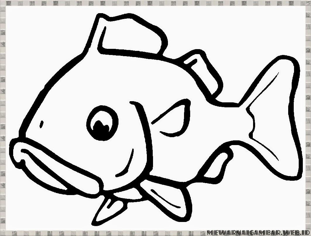 Gambar Mewarnai Ikan Mas Mewarnai Gambar Ikan Mas