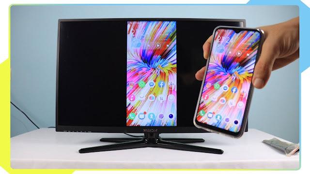 اظهار شاشة الهاتف على التلفاز بدون كيبل والطريقة تعمل مع جميع الهواتف