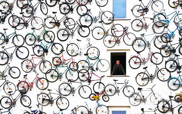 Bikelovin A Wall Full Of Bikes