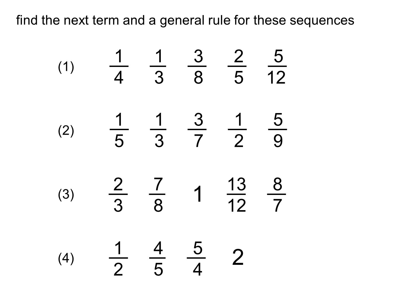Median Don Steward Mathematics Teaching Fraction Sequences