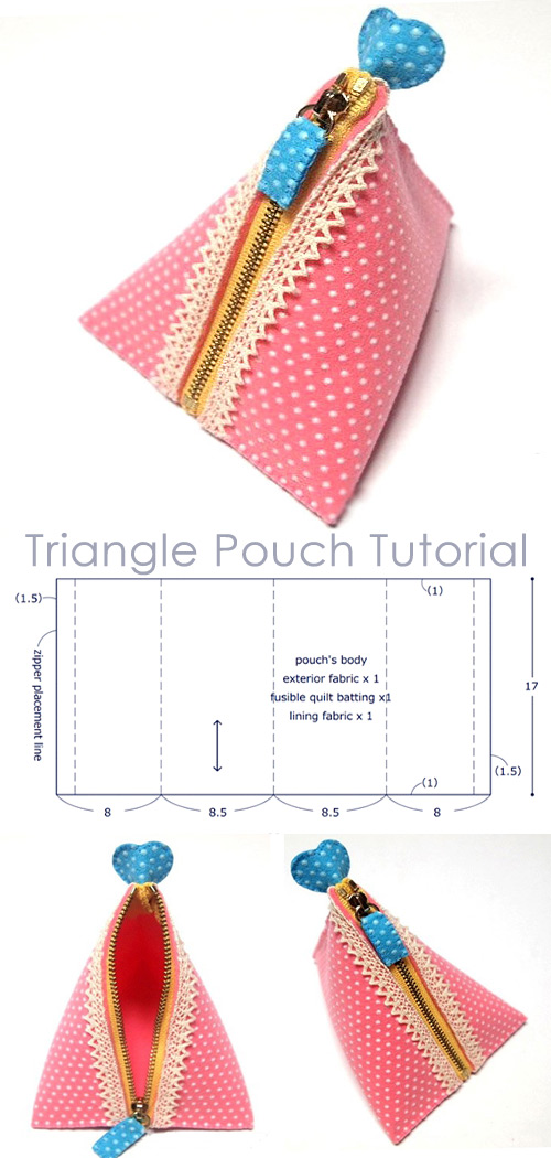 Triangle Pouch Tutorial