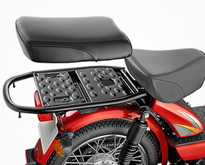 TVS XL 100 rear seat picture