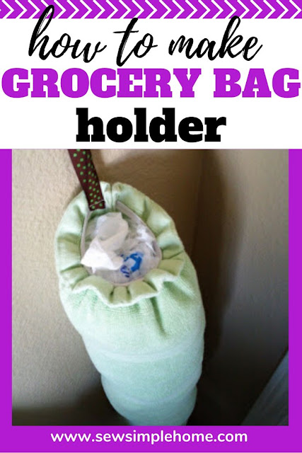 Learn how to make a grocery bag holder with this simple and easy sewing tutorial.