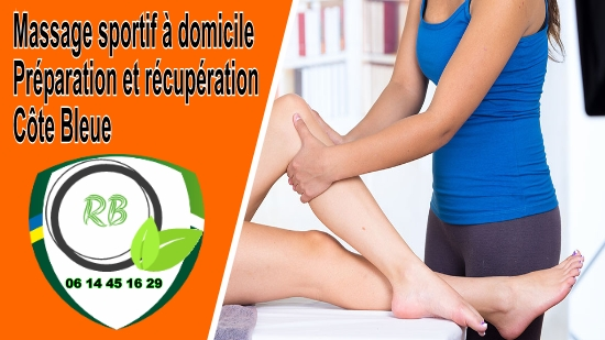Massage sportif à domicile : Préparation et récupération Côte Bleue;