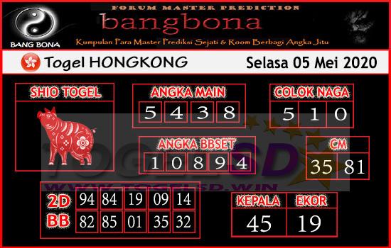 Prediksi HK 05 Mei 2020 - Bang Bona HK