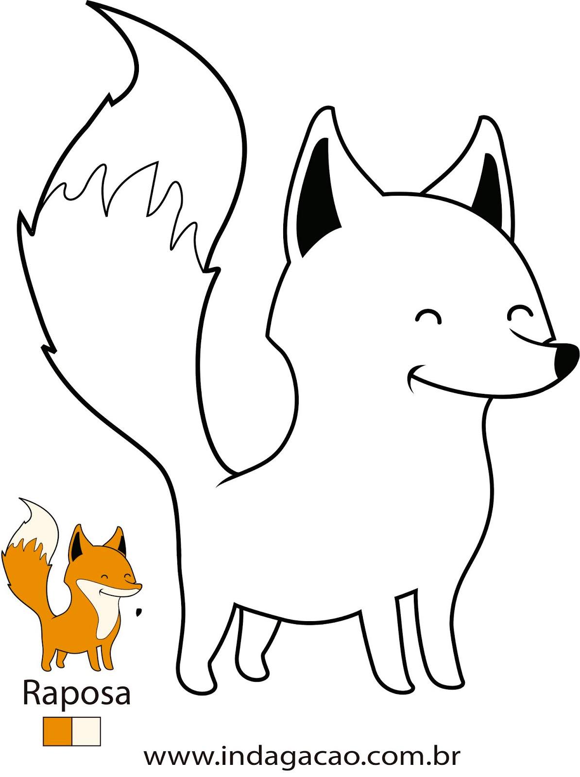 desenho-para-colorir-raposa