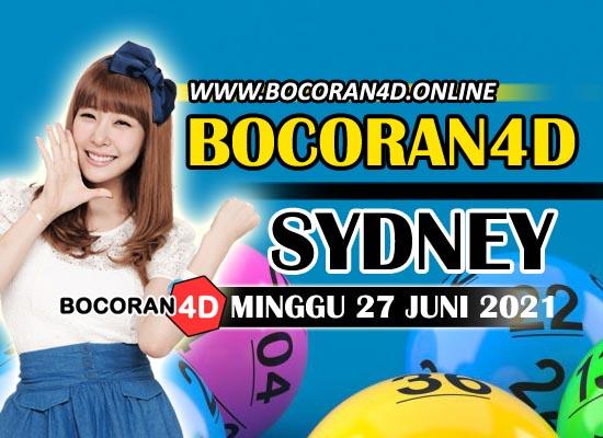 Bocoran Togel 4D Sydney 27 Juni 2021