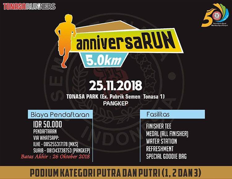 Tonasa Runners anniversaRUN • 2018