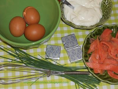 Design Tarte au saumon et carrés frais