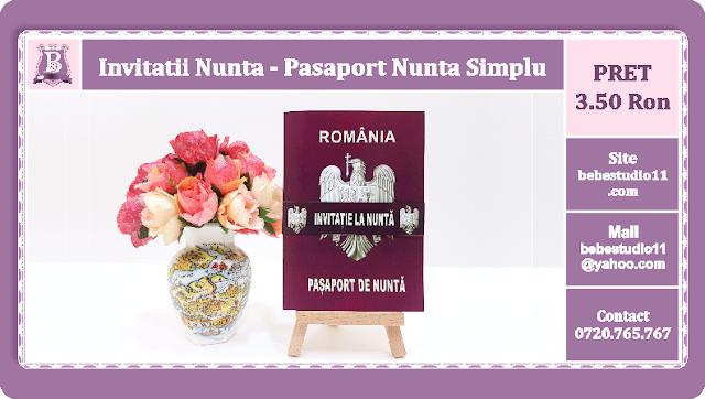 Invitatii Nunta Pasaport Nunta Simplu