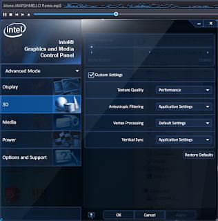 VGA Intel yang notabene ONBOARD masih bisa dioptimisasi