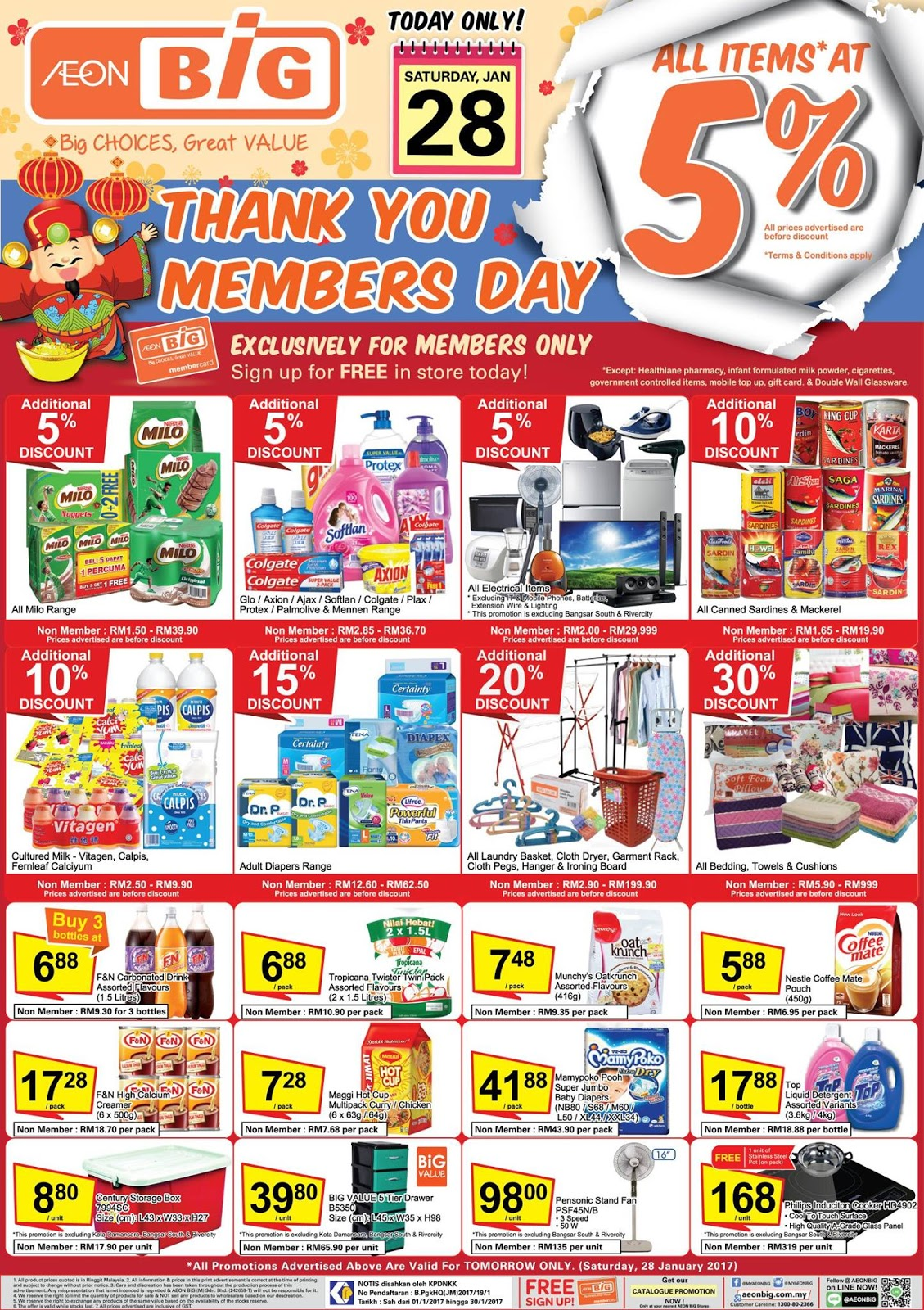 Aeon Big Members Day All Items 5 Discount 28 January 2017