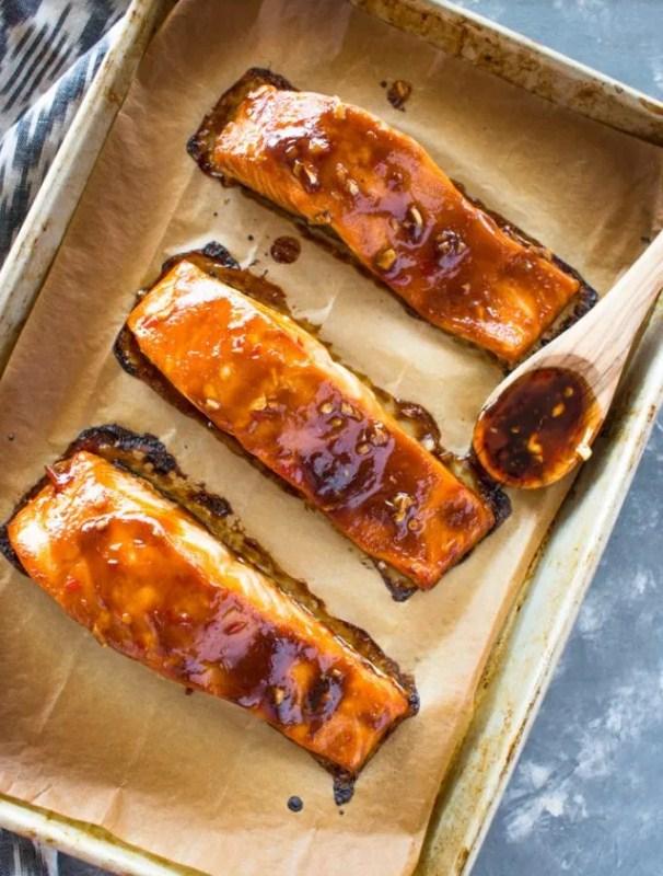 Broiled Thai Sweet Chili Salmon