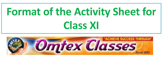 Annual Format of the Activity Sheet for Class XI