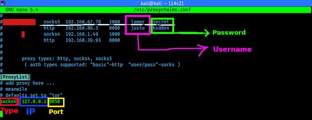 Configuración de lista de proxies