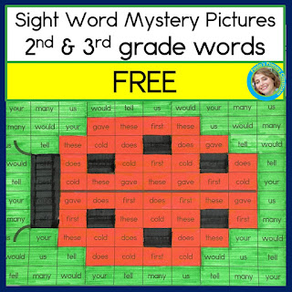 https://www.teacherspayteachers.com/Product/Sight-Word-Worksheets-Ladybug-Mystery-Picture-2nd-and-3rd-grade-FREE-4558136