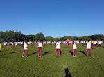 Anggota TNI/POLRI dan Pemda Dompu Gelar Senam Bersama di GOR Ginte