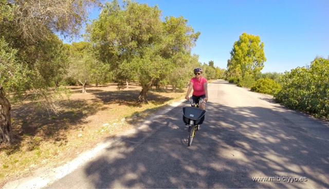 Brompton bike Reserva Natural de La Cesine