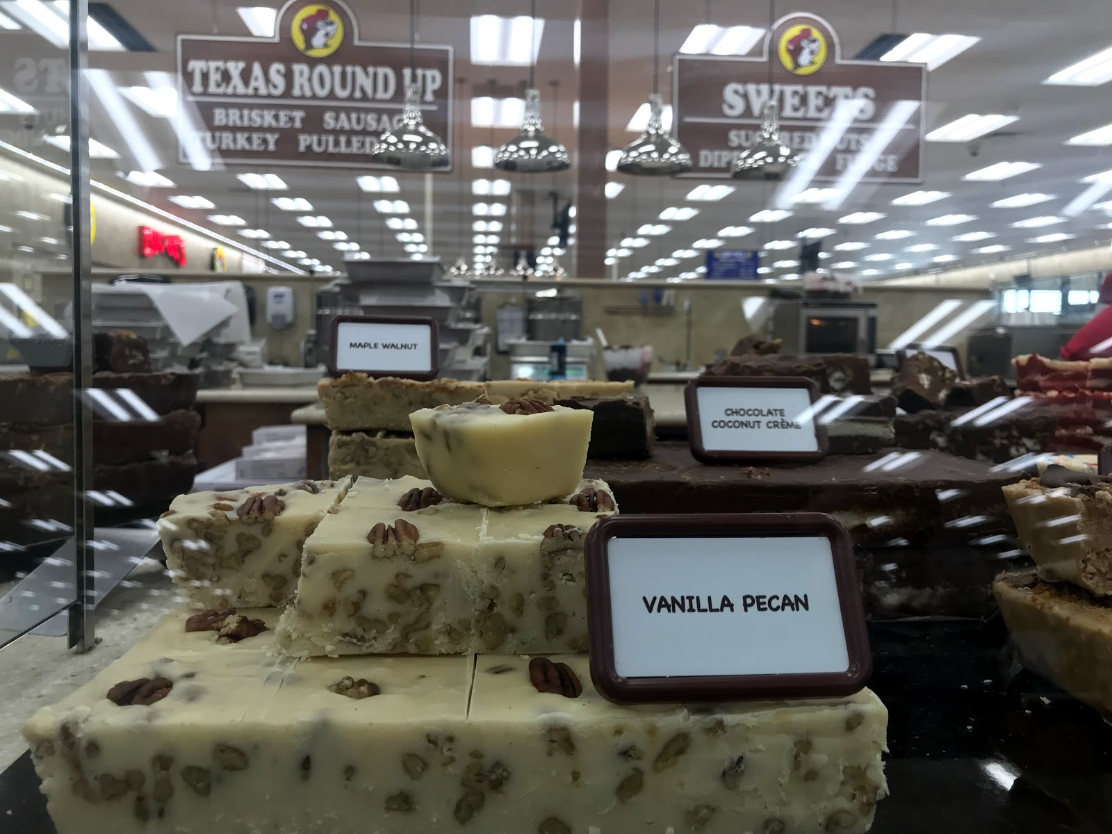 Image: chocolate fudge sold at Bucee Beaver gas station. seen first on Bits and Babbles blog
