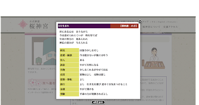 桜神宮のオンライン参拝・おみくじ結果