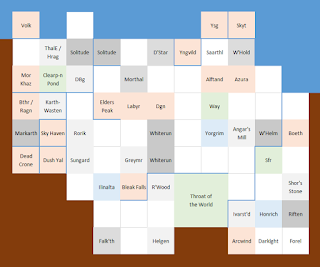 Skyrim's features mapped onto a grid