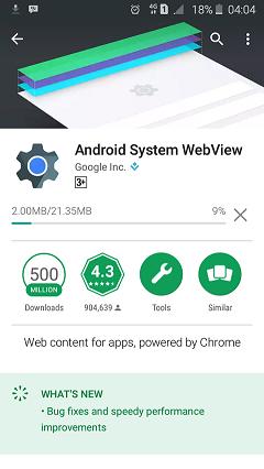 Sistem Tampilan Web Android