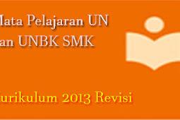 Mata Pelajaran Pengganti UN dan USBN SMK