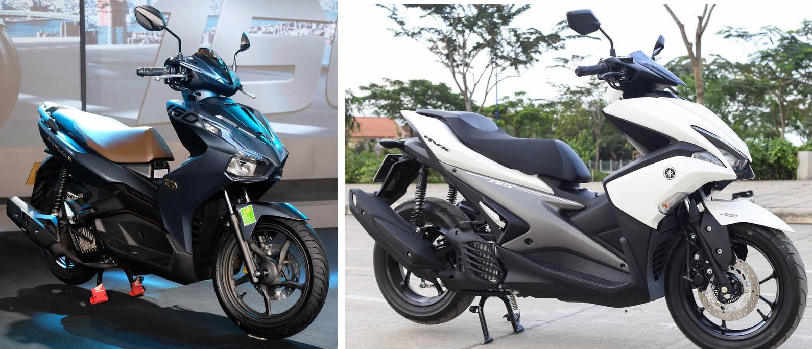 So sánh Honda Air Blade 150 không vượt trội so với Yamaha NVX 155