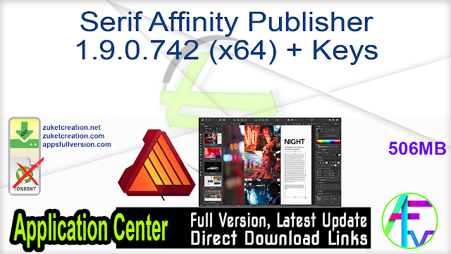 Serif Affinity Publisher 1.9.0.796 (x64) + Key