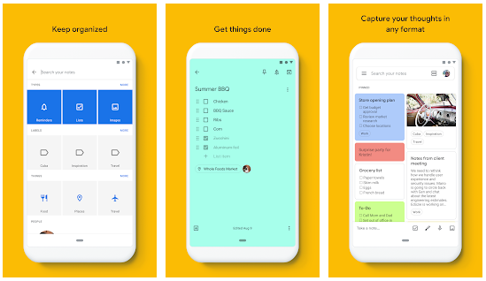 تحميل أفضل تطبيق على الاطلاق Google Keep للملاحظات والقوائم
