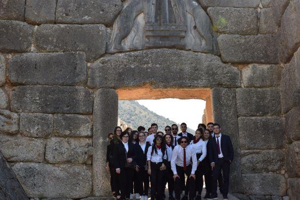 Τις Μυκήνες επισκέφθηκαν οι μελλοντικοί Τουριστικοί Πράκτορες της Τουριστικής Σχολής Άργους