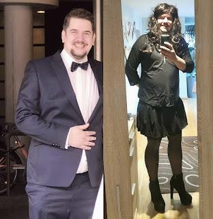 Marcel Sprenger dressed as a sissy!