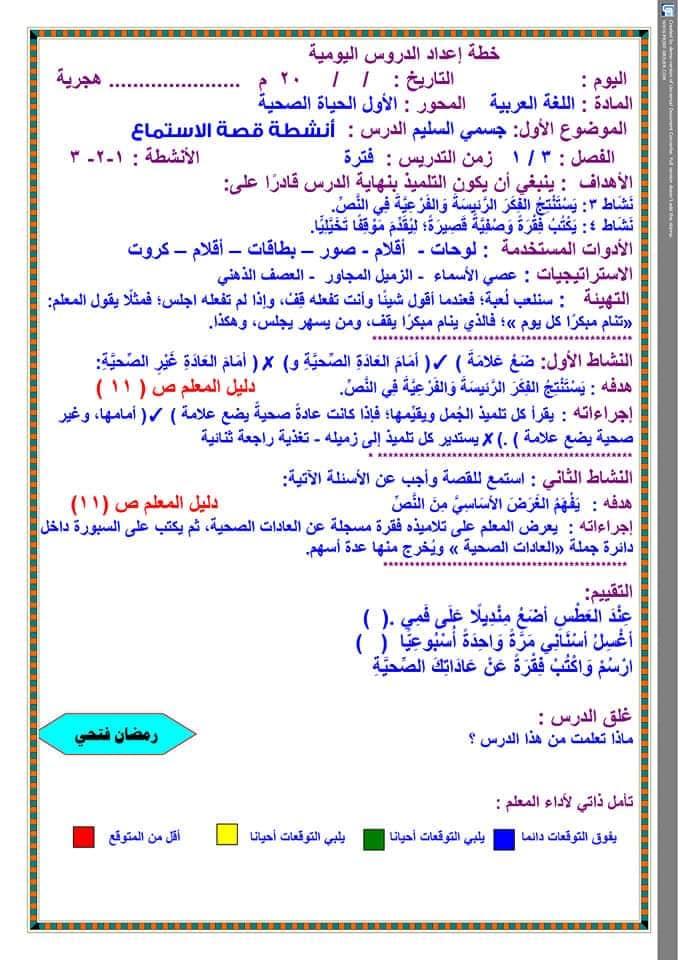 تحضير دروس نافذة اللغة العربية للصف الثالث الابتدائي  أ / رمضان فتحي 18