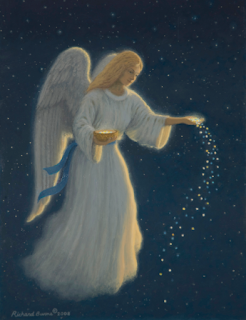 Angel of Abundance by Richard Burns Christmas card